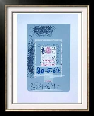 Pablo Picasso Album Croquis Lithograph on Arches Paper