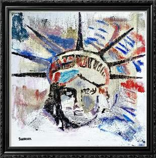 Liberty POP Art Mixed Media Canvas Ready to Hang