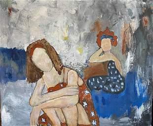 Social Distancing Original Painting Janet Swahn