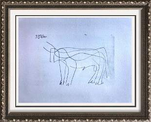 Pablo Picasso Horse Lithograph on Arches Paper