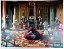 Obrien Huge Rare Limited Edition Art Deco Realism