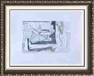 Pablo Picasso Abstract Sitting Lithograph on Arches