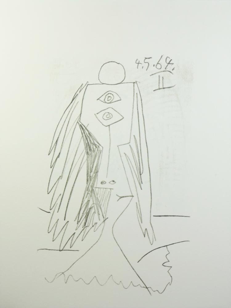 PICASSO PORTRAIT ABSTRACT LINE DRAWING DEALER SALE