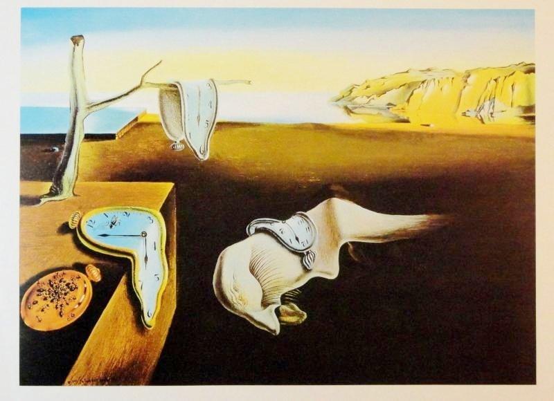Salvador Dali Classic Melting Clocks Original Litho