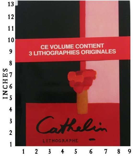Lithographe 1957-1986 3 Original Colored Lithographs (1