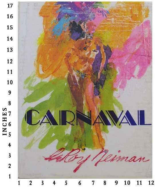 Leroy Neiman Carnaval 1981 Knoedler Publishing Art Book