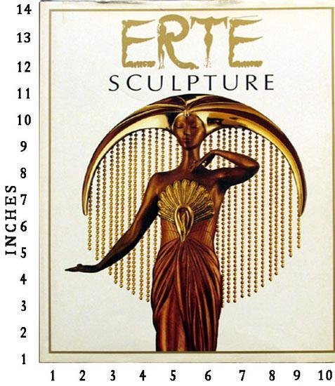 Erte Sculpture 1986 Dutton Studio Art Book Jacket Hard
