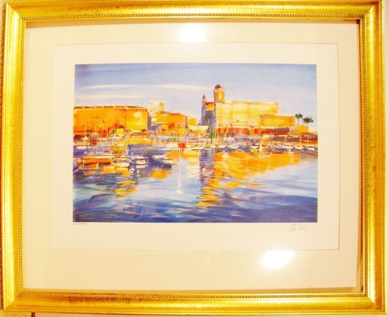Harbor Scene Colorful Only $100 Below Wholesale