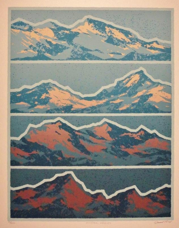 Mountain Abstract Signed Limited Edition Estate Sale