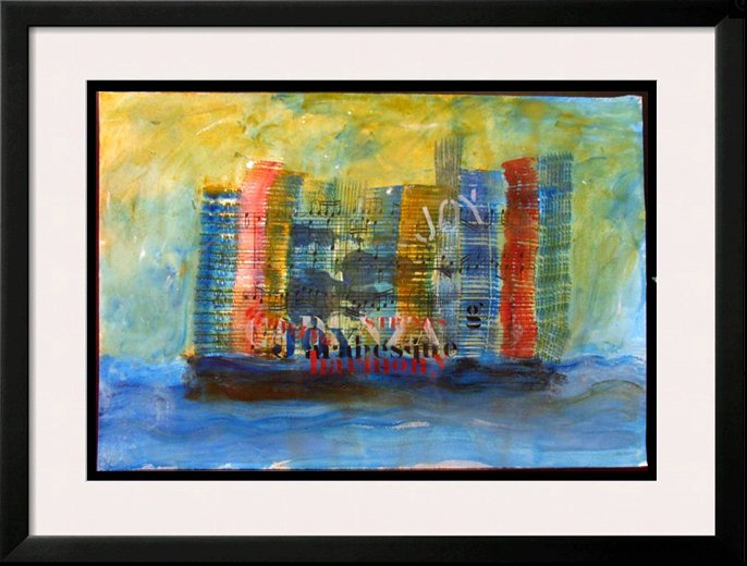 MUSICAL CRUISE HAND SIGNED ORIGINAL WATERCOLOR