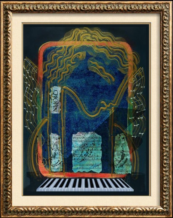 Chopin Hand Signed Original Painting Canvas 24X20