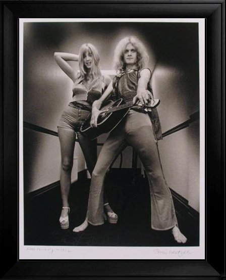 KIM KOWLEY 1972 RARE ROCK N ROLL SIGNED PHOTO HUGE SALE