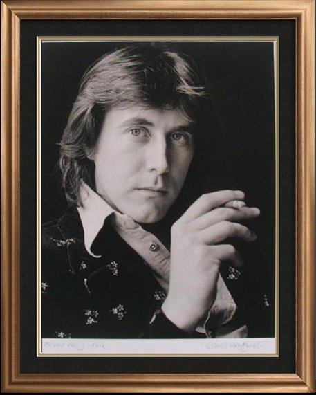 BRYAN FERRY 1972 ORIGINAL PHOTO SIGNED LIMITED EDITION