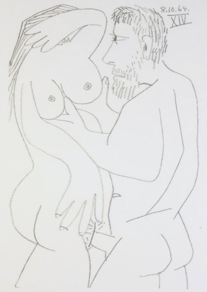 PICASSO COUPLE RARE LIMITED EDITION EROTIC DRAWING - 3