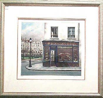 307: Renoux Street Scene Ltd Ed Realistic Style Sign #