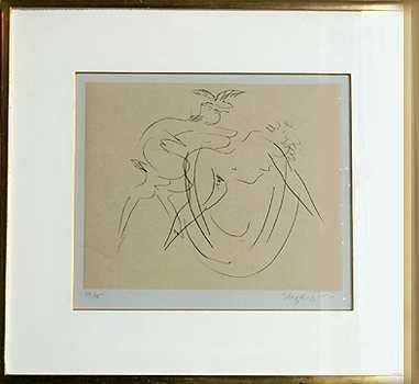 342: Reuben Nakian Rare Etching Edition of 75