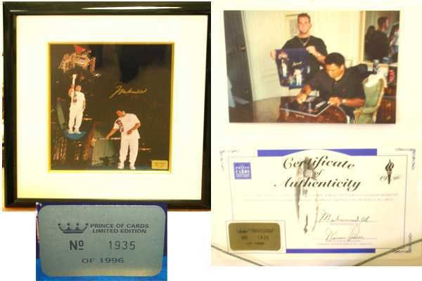 356: Muhammad Ali Signed Photo Olympic Torch