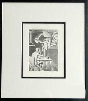 400: Pop Art Pencil Drawing Original Art Mark Kostabi