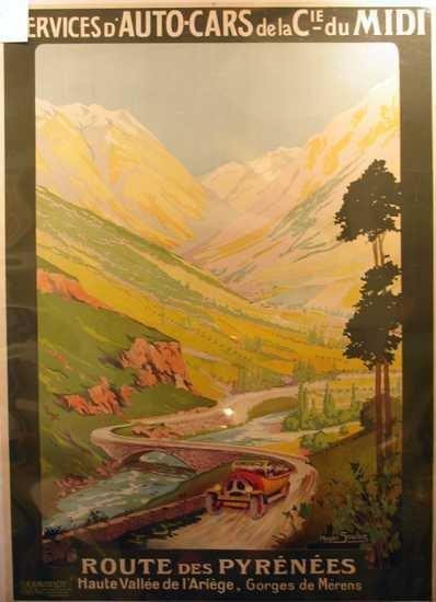 488: Original Lithographic Poster Travel Theme Soubie