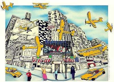 609: Pop Art Pergola Airplane & Taxicab Signed Ltd Ed