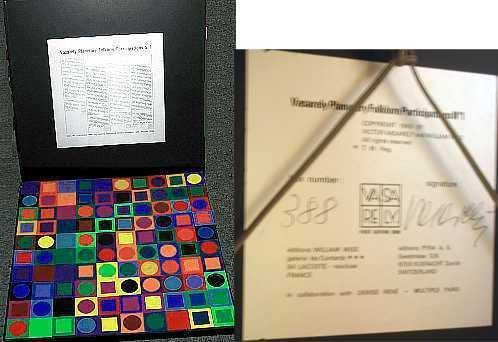 736: Victor Vasarely Rare Find! Puzzel LtdEd Sculpture