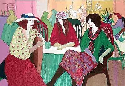 1036: Maimon Style Women in Café Ltd Ed Colorful