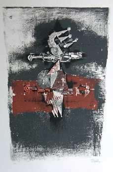 1144: Friedlander Ltd Ed Pencil Signed Abstract Rare