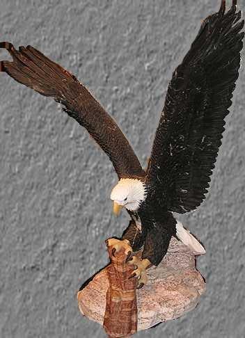 8437: Bill Mack Marble Sculpture Eagle Signed Ltd Ed