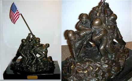 8760: Flag Raising Iwo Jima Original Bronze Sculpture