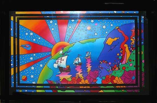 8761: Peter Max Discovery Deluxe Custom Framed Art