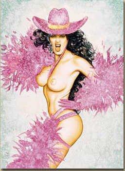3163: Olivia & Julie Strain Signed Nude Limited Edition