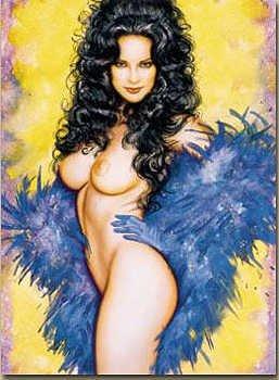 3174: Olivia & Julie Strain Signed Nude Limited Edition