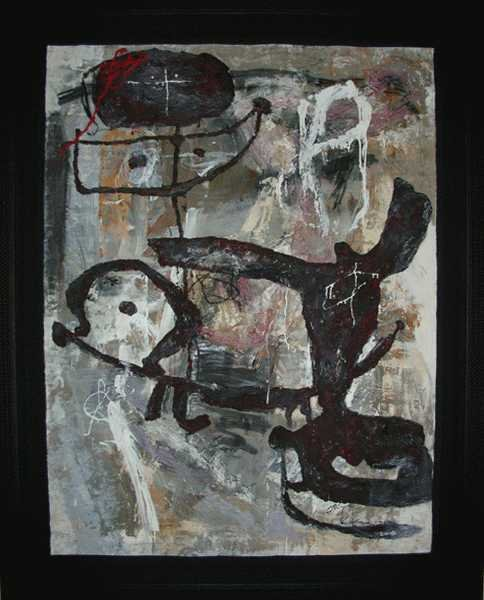 003: Zhou Brothers Original Mixed Media Abstract Large