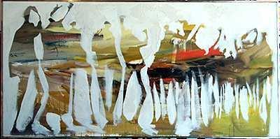 12: Gino Hollander Canvas Earthtone Family Abstract