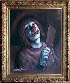 Leighton Jones Vanity Clown Painting on Canvas