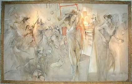 210: Jurgen Gorg Original HUGE Oil on Canvas