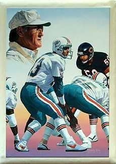 30E: Miami Dolphins Painting Schula Marino Hallof Fame