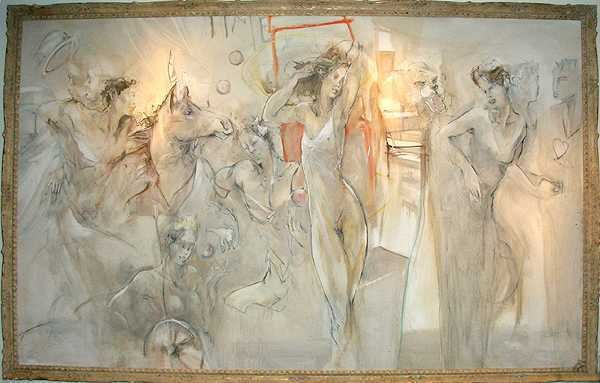 210E: Jurgen Gorg Original HUGE Oil on Canvas