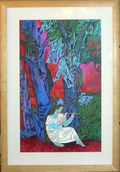 217E: Zhou Ling Original on Paper Huge Sale