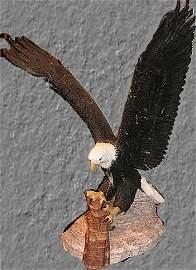 8437E: Bill Mack Marble Sculpture Eagle Signed Ltd Ed