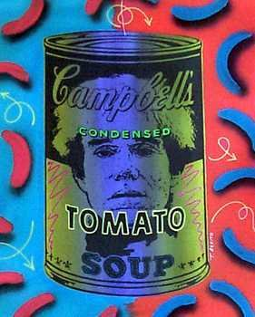 872: Warhol in a Soup Can Painting on Canvas