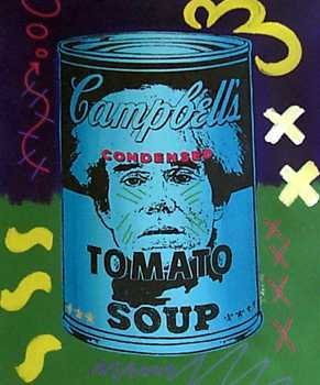 879: Canvas of Warhol in a Soup Can Pop Art