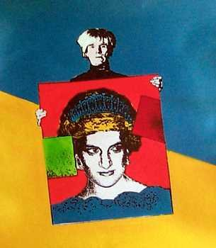 912: Warhol Style Paints Princess Diana Canvas