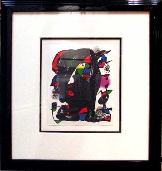 254: Joan Miro Museum Framed Lithograph