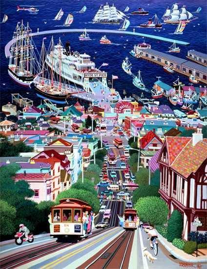 2904: Chen Hyde Street Pop Art only $75 Signed Ltd Ed