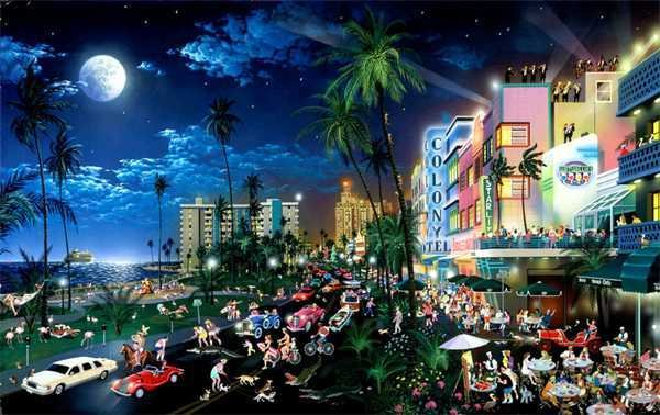 2934: South Beach Miami Chen Pop Art Signed Wholesale