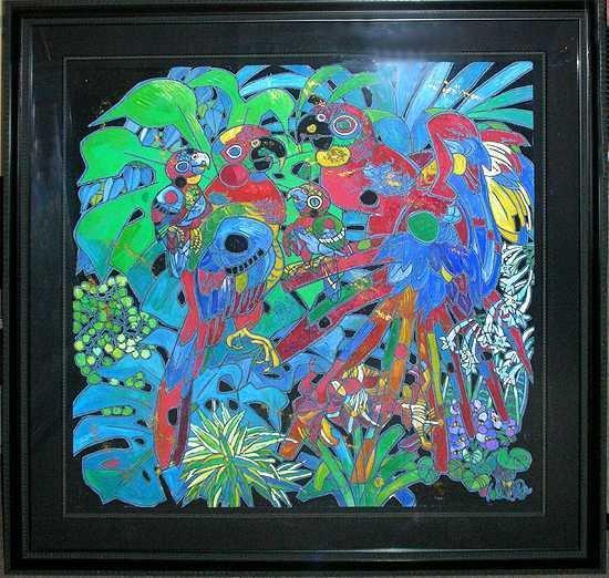 8966: Jiang Tiefeng Original Painting Huge Estate Sale