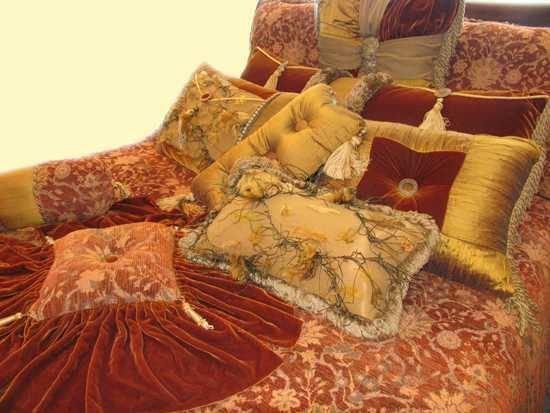 11111: $8000 Luxury Bedding Queen NEW Designer Silk Vel