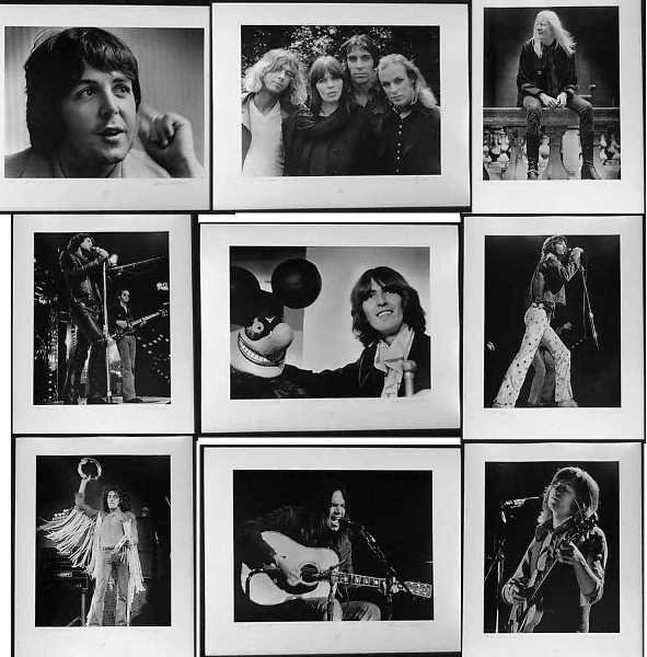 012345: Collection of 100 Vintage Rock & Roll Photos Lt