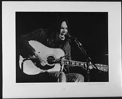050971: Neil Young Original Signed Ltd Ed Photograph
